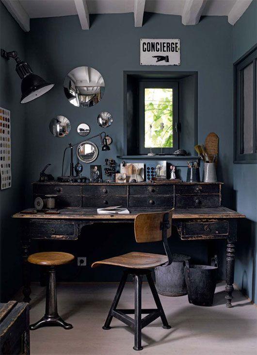 Дизайн интерьера кабинета в стиле стимпанк