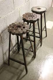 Барные стулья в дизайне интерьера в стиле стимпанк