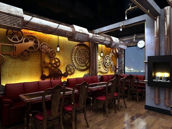 Дизайн интерьера кафе и паба в стиле стимпанк