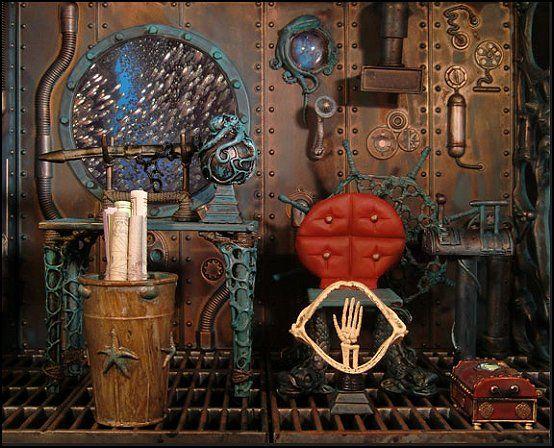 Дизайн декора в интерьере в стиле стимпанк
