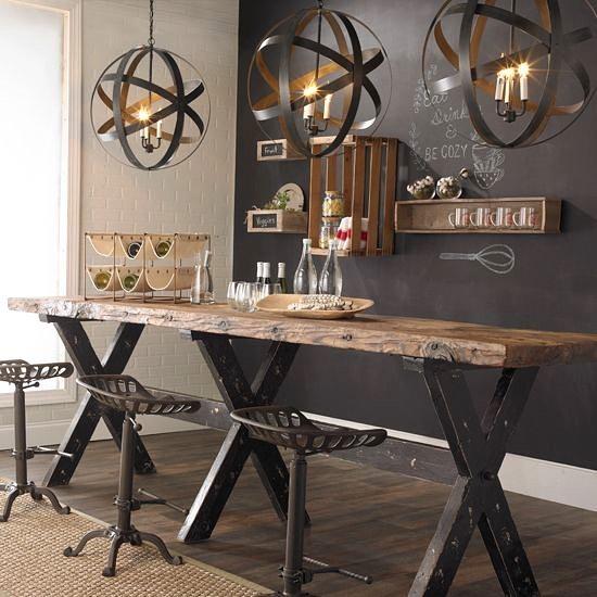 Дизайн интерьера кухни-столовой в стиле стимпанк