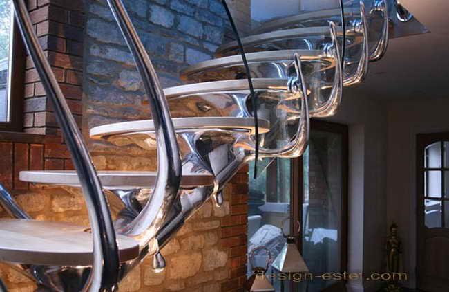 Органический дизайне металлической лестницы