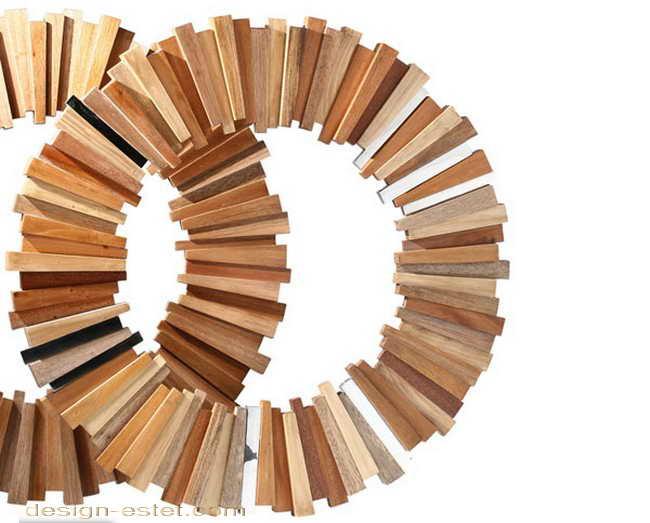 Дизайнерская скамейка из массива дерева