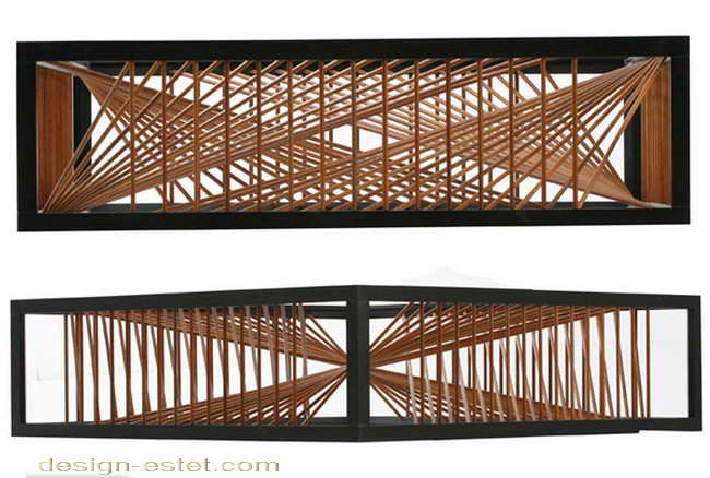 Дизайнерская мебель из массива дерева - кофейный столик