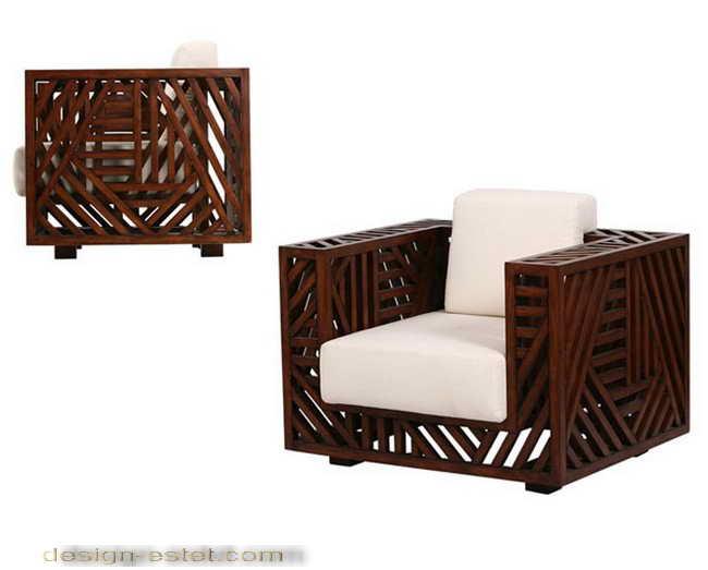 Дизайнерская мебель из массива дерева - диван для улицы