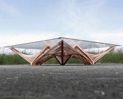 Дизайнерская мебель из массива дерева - журнальный столик