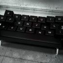 Дизайнерский диван кровать из черной кожи в форме клавиатуры