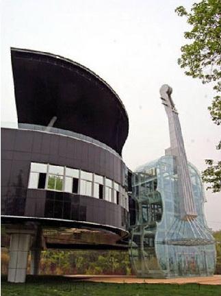 Дом рояль со скрипкой в Китае - архитектурный проект