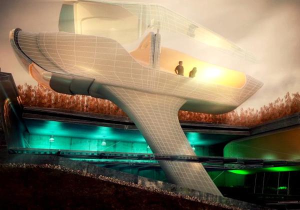 Футуризм в архитектурных проектах домов будущего