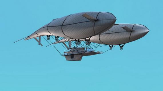 Архитектурный проект летающего дома будущего