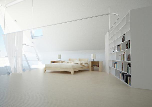 Интерьеры домов будущего в духе футуризма