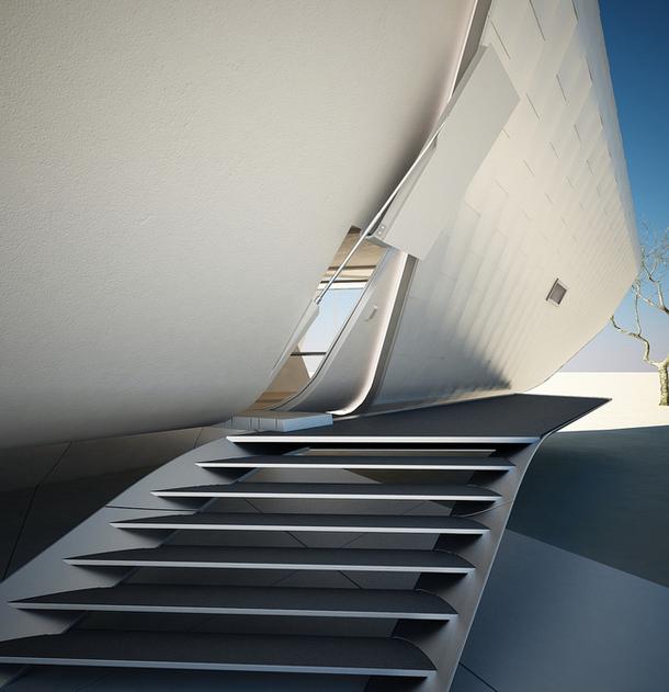 Проект быстросборного дома будущего в футуристическом стиле