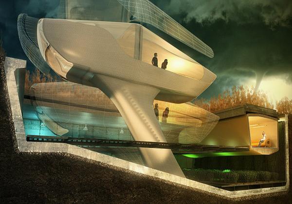 Футуристическая архитектура будущего