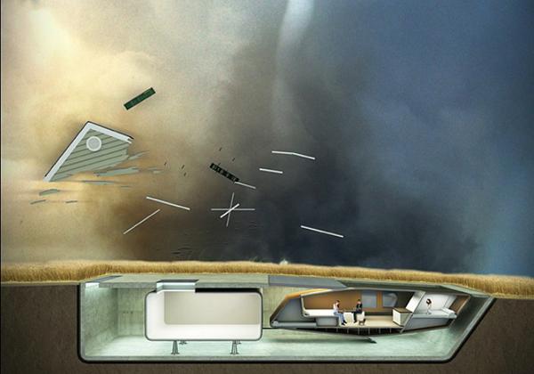 Подземный дом трансформер - архитектура будущего в стиле футуризм