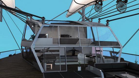 Футуризм в архитектуре летающих домов