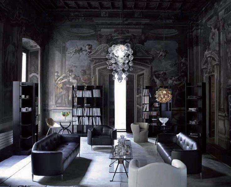 Дизайн стен в готическом стиле в интерьере квартиры