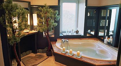 Интерьер ванной комнаты в мини-отеле