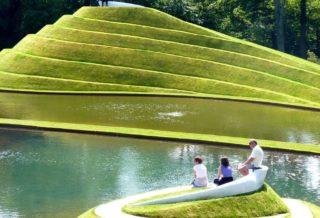 Ландшафтный дизайн Сада космических размышлений Чарльза Дженкса