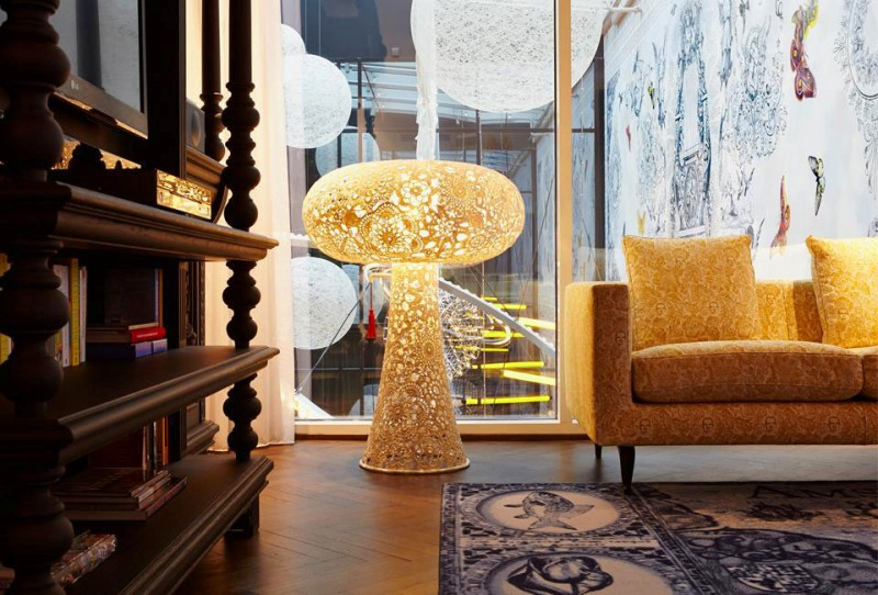 Дизайн интерьера от Марселя Вандерса для зоны отдыха в номере отеля Andaz
