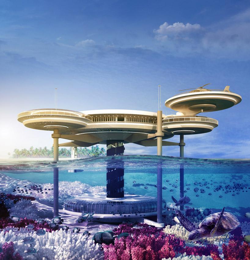 Дизайн-проект и визуализация подводного отеля в Дубае, ОАЭ