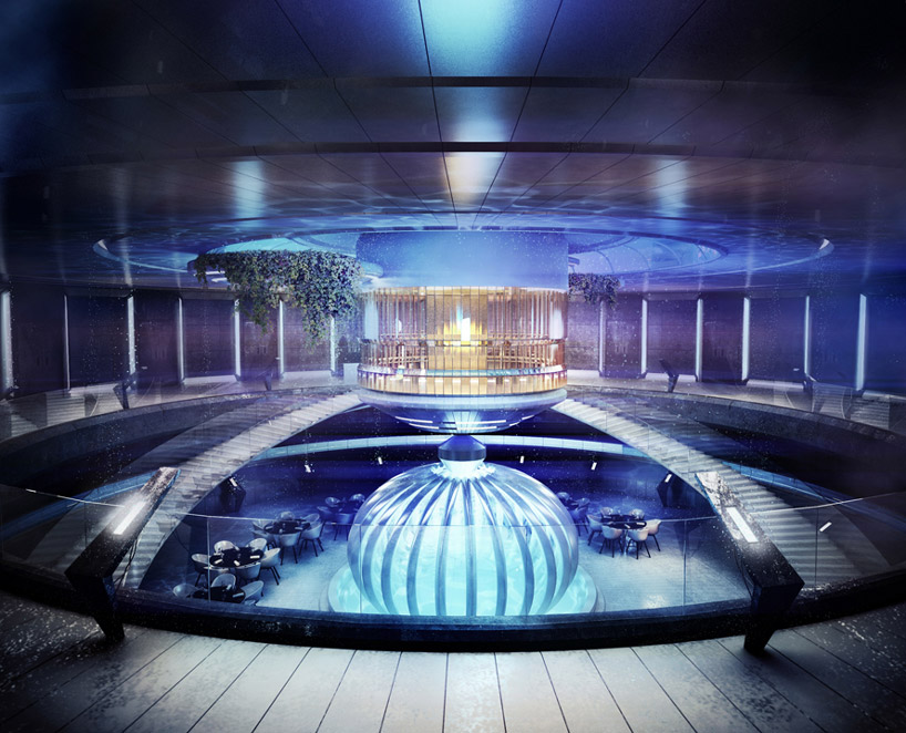 Рестораны подводного отеля в Дубае, ОАЭ