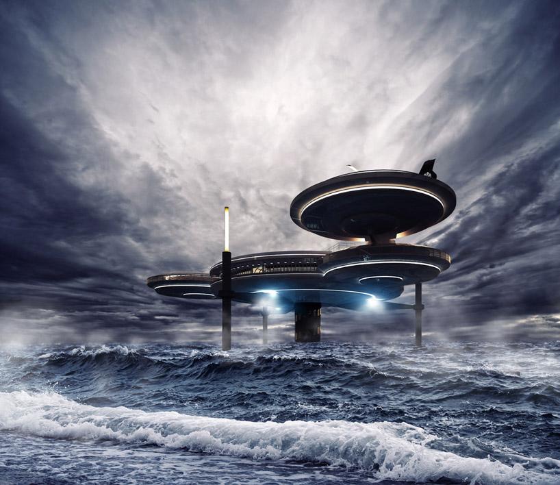 Конструкция подводного отеля в Дубае, ОАЭ