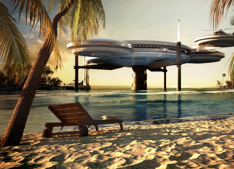 Дизайн подводного отеля в Дубае, ОАЭ