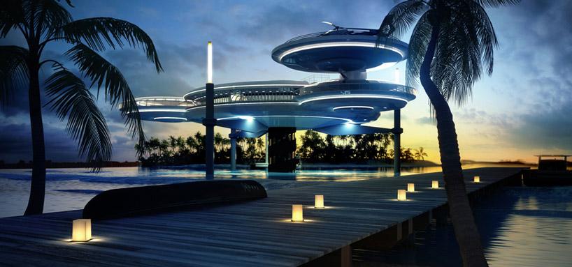 Экстерьер подводного отеля в Дубае, ОАЭ