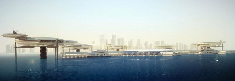 Подводный отель в Дубае, в Персидском заливе в ОАЭ