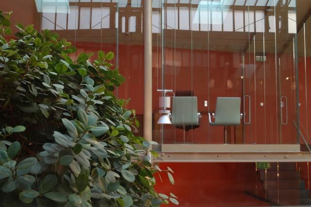 Пример использования стекла в дизайне офиса