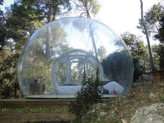 Сферические номера из прозрачного стекла - отель во Франции