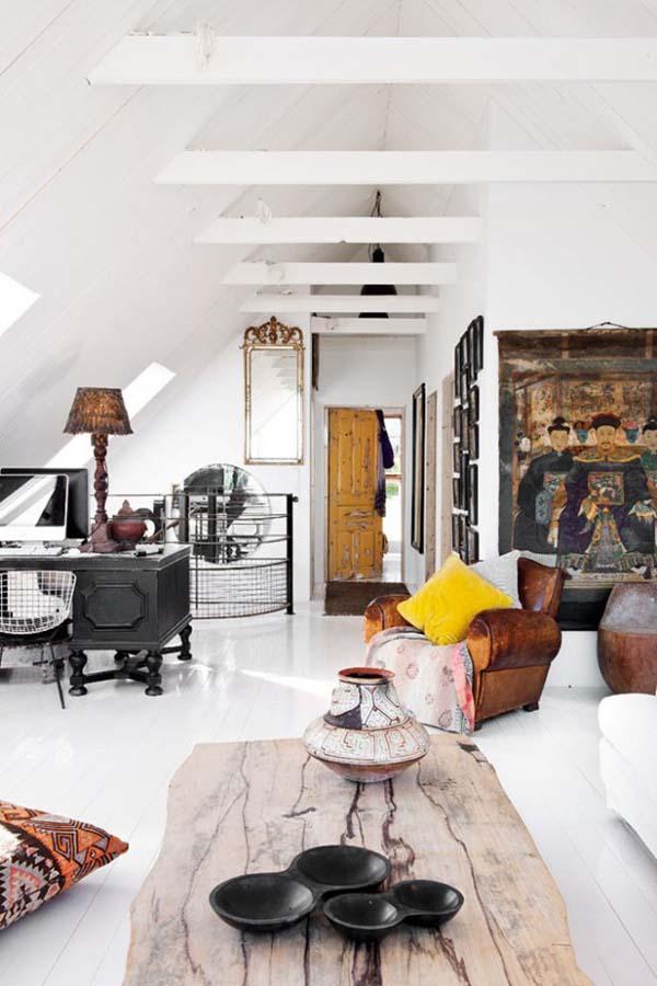 Интерьер гостиной в ретро-винтажном стиле