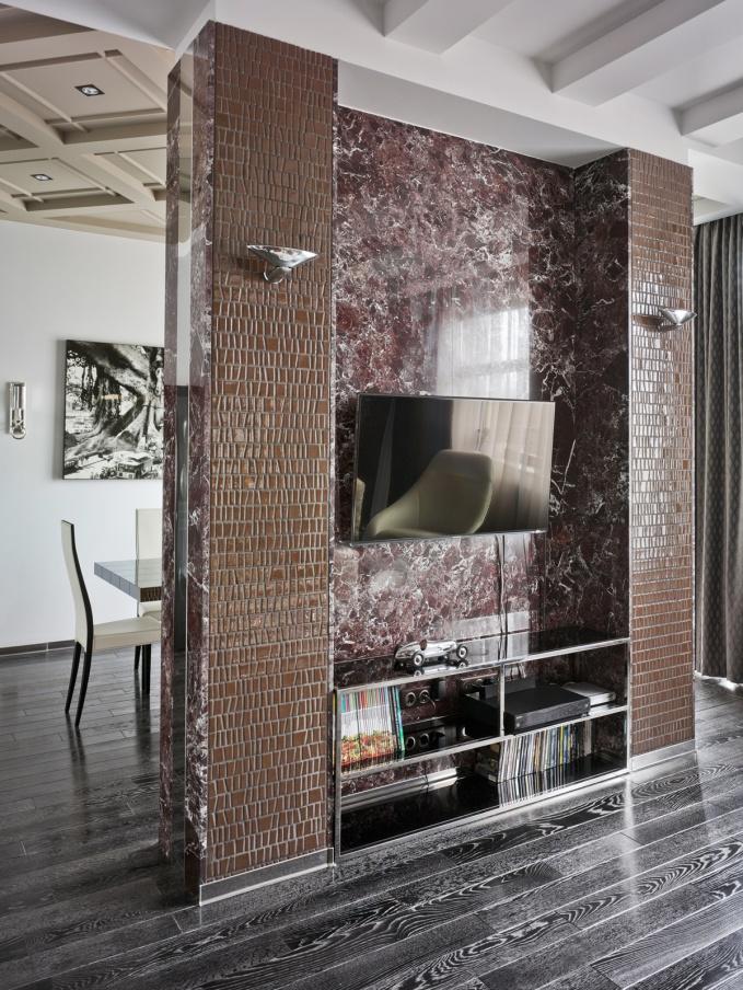 Ретрофутуризм в интерьере гостиной-столовой