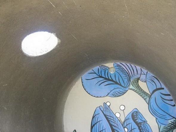 Интерьер самого необычного отеля в Европе в бетонной трубе