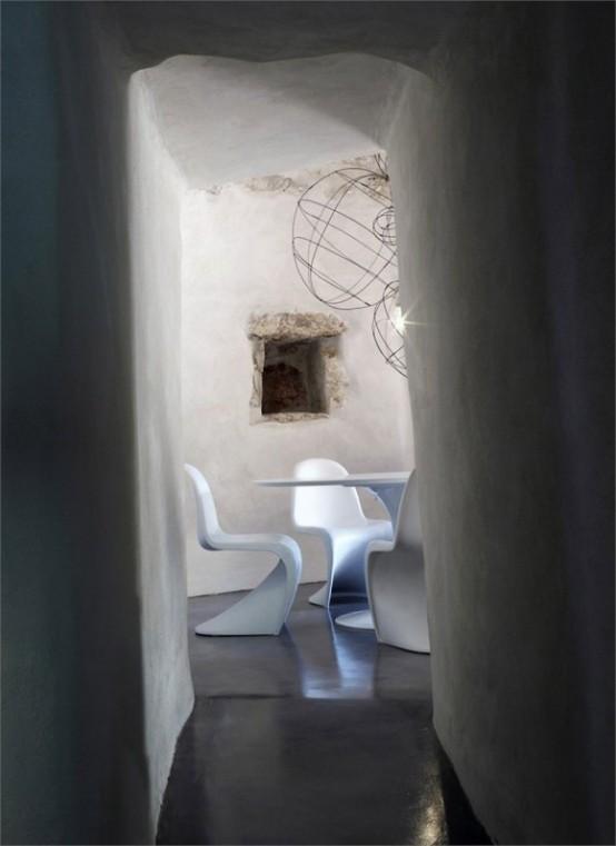 Тандем древности и современности в дизайне старинного каменного дома