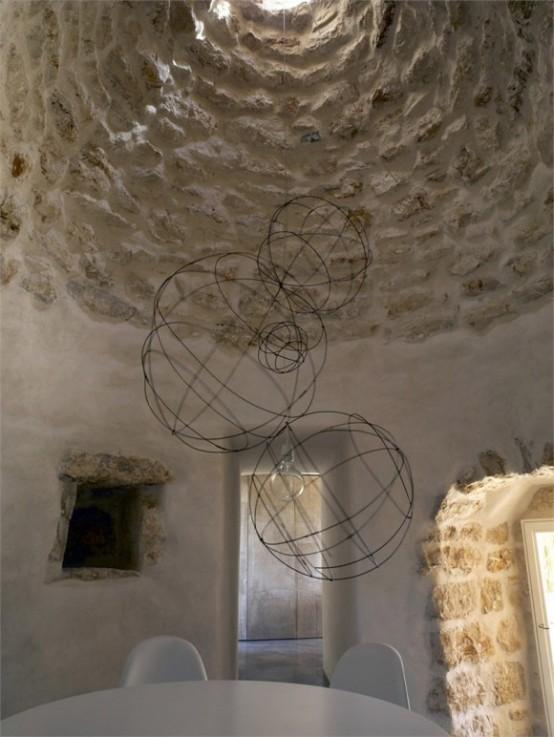 Каменная кладка в дизайне старинного итальянского дома