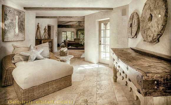 Мебель для спальни в стиле рустик в интерьере дома