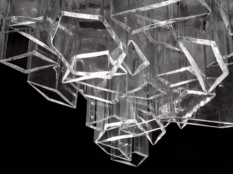 Модульная накладная чешская люстра из хрусталя