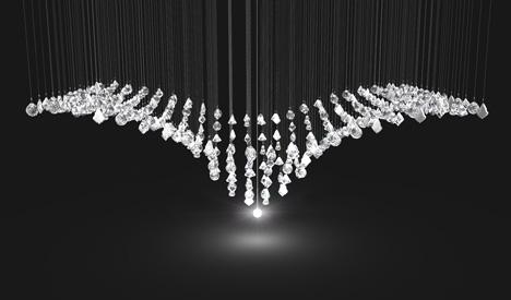 Кинетические чешские люстры из хрусталя