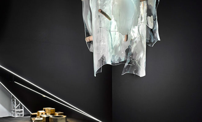 Чешский светильник с подвесками из хрусталя