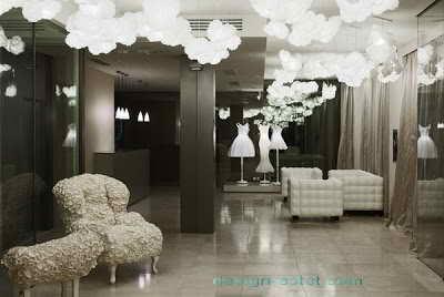 Фото дизайна освещения для холла одного из самых дорогих отелей мира Maison Moschino Hotel Milan