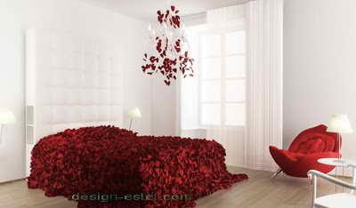 Дизайн номера в красном и белом цвете одного из самых дорогих отелей мира Maison Moschino Hotel Milan
