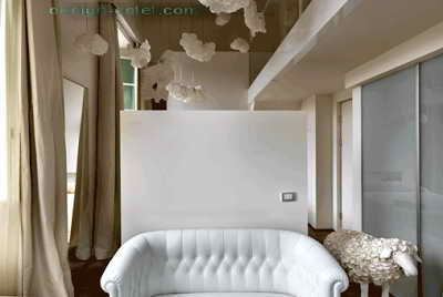 Дизайн потолка для номера одного из самых дорогих отелей мира Maison Moschino Hotel Milan