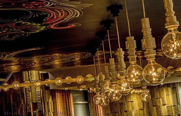 Дизайн освещения в интерьере отеля в стиле американского ретро