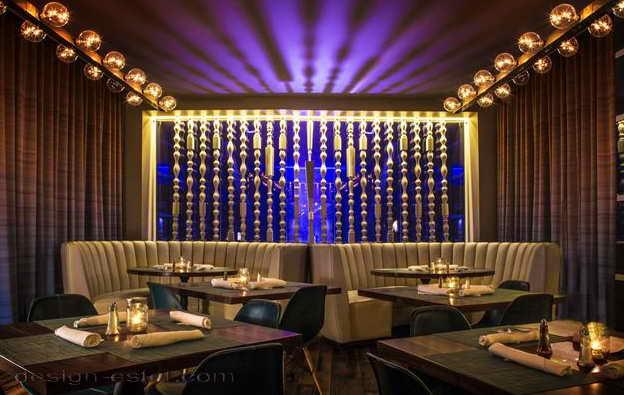 Дизайн интерьера ресторана отеля в американском стиле