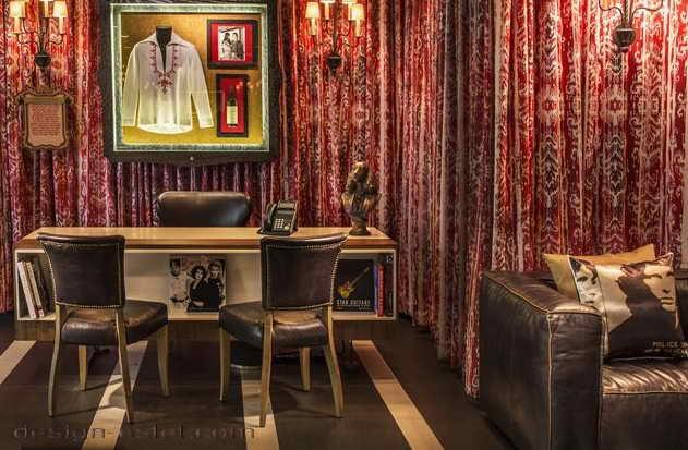 Дизайн интерьера номера отеля в американском стиле