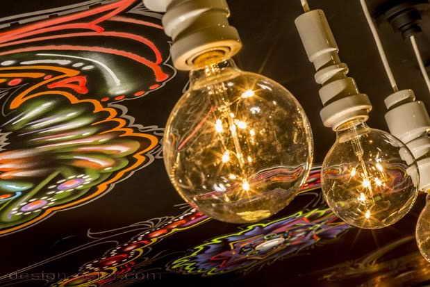 Американский ретро-стиль в дизайне интерьерных светильников