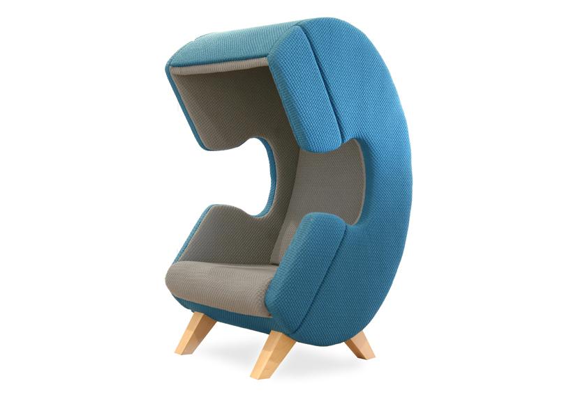 Дизайнерская мягкая мебель - стильное кресло