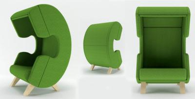 Стильное дизайнерское мягкое кресло
