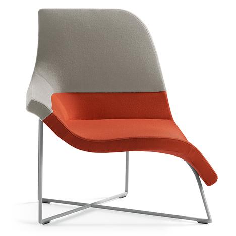 Асимметричная форма дизайнерских современных кресел